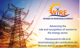 Participation de Lydie Servanin à l'événement du WIRE - Women in Renewable Energy